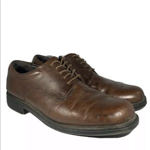 Rockport Oxford Dress Shoes Square Toe Leather